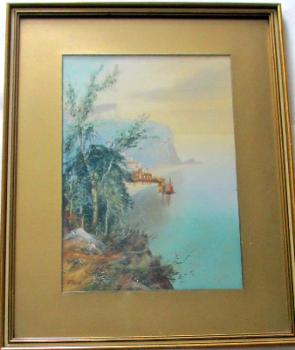 Clovelly, North Devon, watercolour and gouache, signed MacColl. c1900.