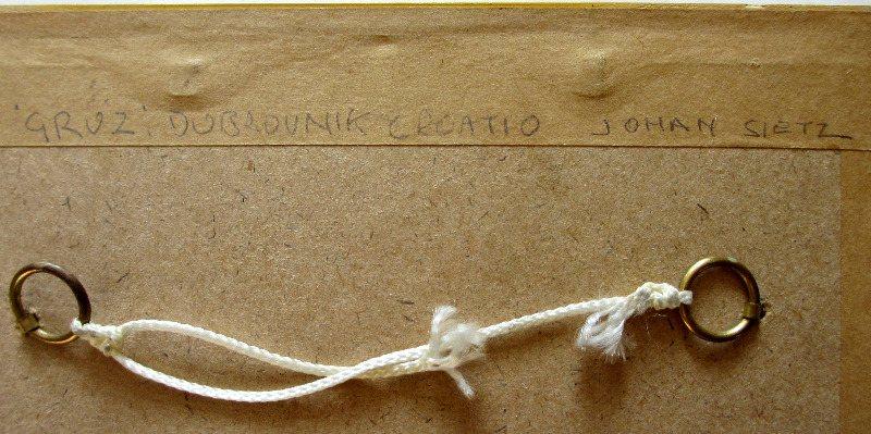 Gruz, Dubrovnik, signed J. Seits, 1926. Verso, handscript.