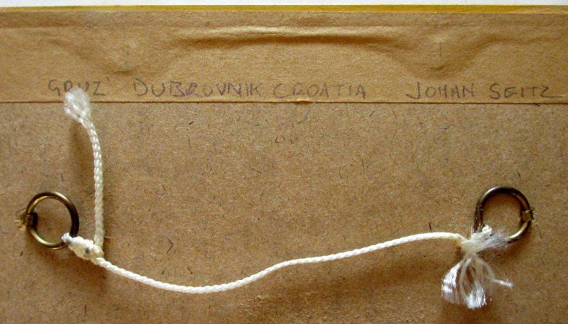 Gruz, Croatia, gouache on paper, signed J. Seits, 1926. Verso handscript.
