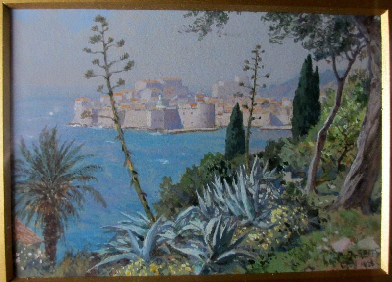 Gruz, Dubrovnik, signed J. Seits, 1926. Detail.