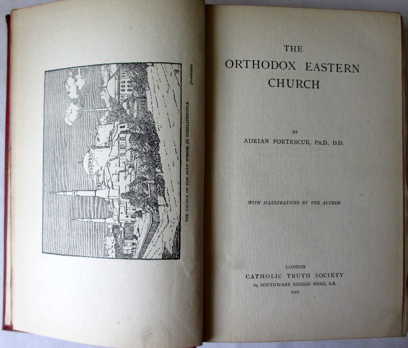 The Orthodox Eastern Church by Adrian Fortesque, 1907.