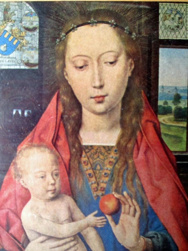 Madonna and Child, Hans Memling, 1487, open-edition print.