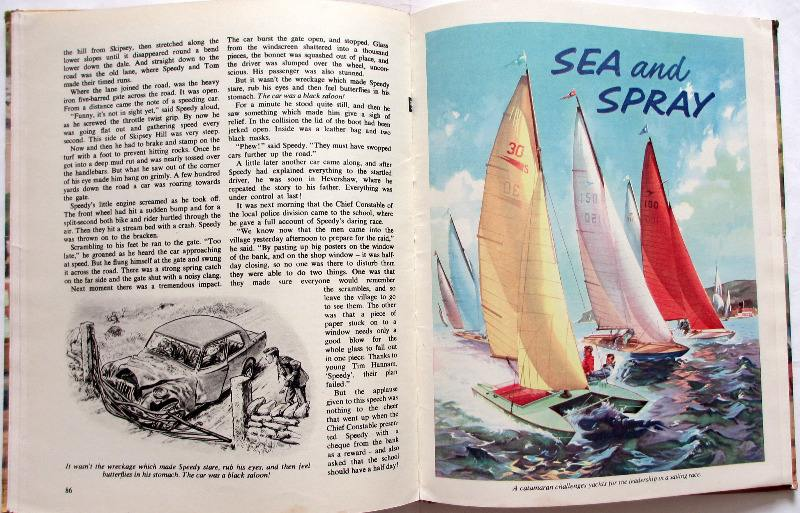 Swift Annual 1963. Sample plate and page.