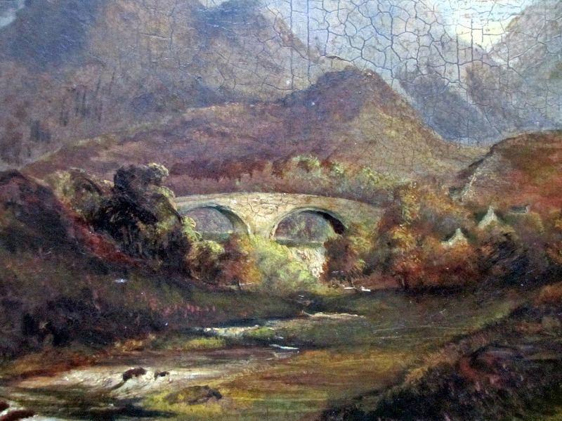 Welsh Landscape, oil on board, signed A. Edwards, 1843.