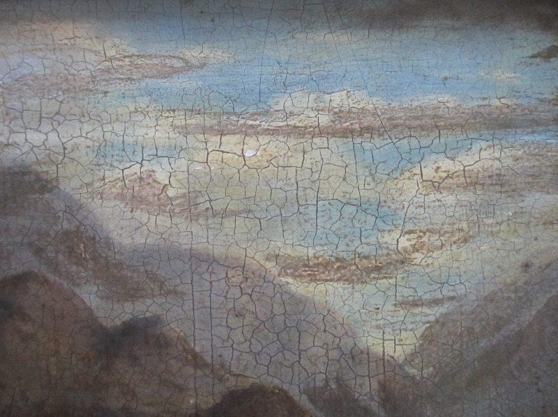 Welsh Landscape signed A. Edwards, 1843. Detail.