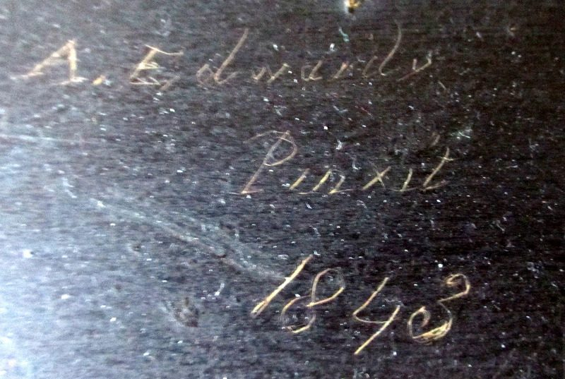 Verso signature and date.