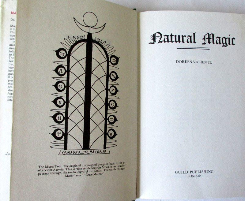 Natural Magic by Doreen Valiente, BCA, 1985.