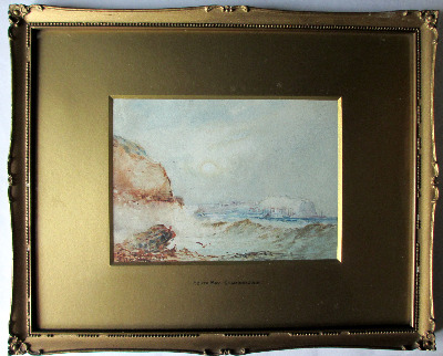 South Bay, Scarborough, watercolour with gouache, signed Austin Smith 1921.