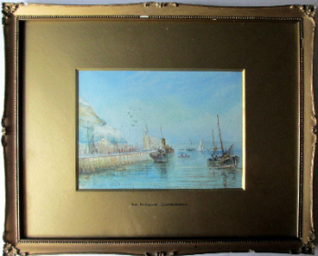 The Harbour, Scarborough, watercolour on paper, signed Austin Smith, 1923.   SOLD.