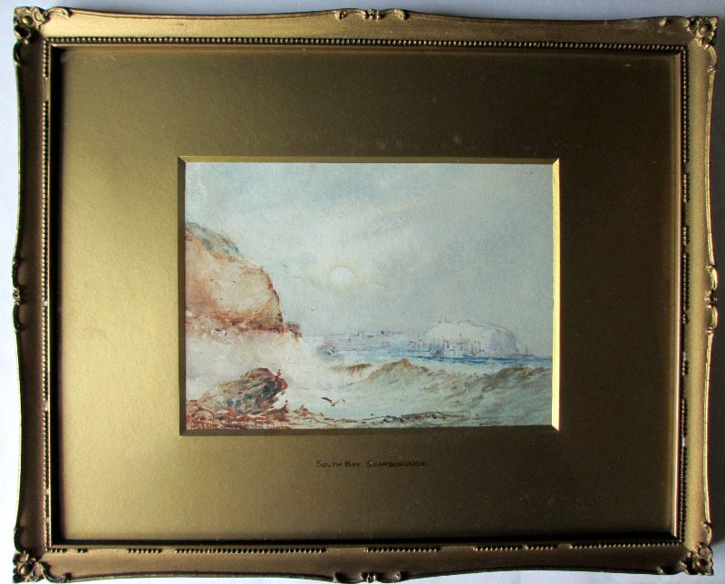 South Bay Scarborough, watercolour and gouache, signed Austin Smith, 1921.