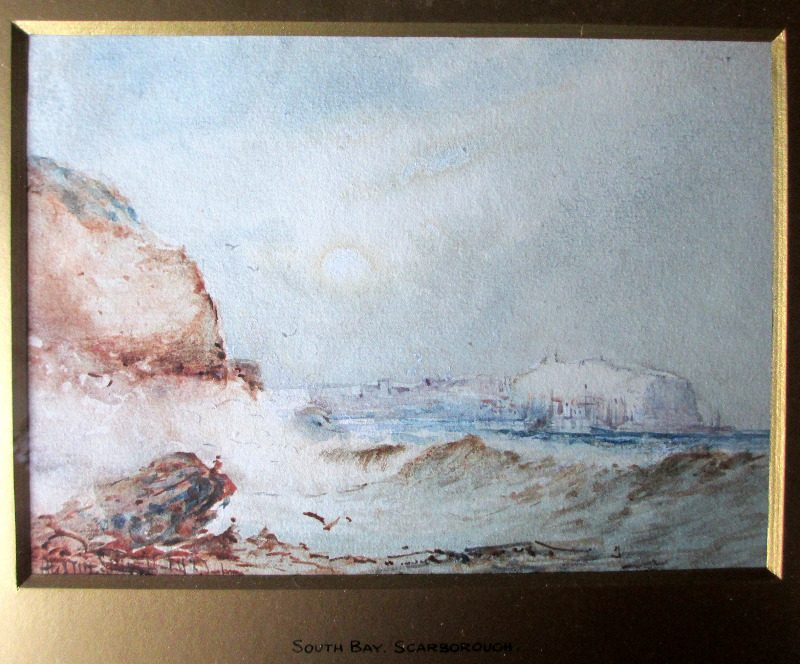 South Bay, Scarborough, watercolour, signed Austin Smith, 1921. Detail.