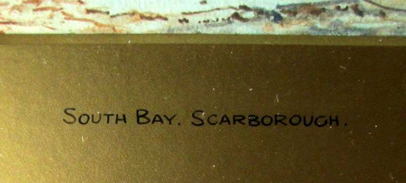 South Bay Scarborough, signed Austin Smith, 1921. Title.