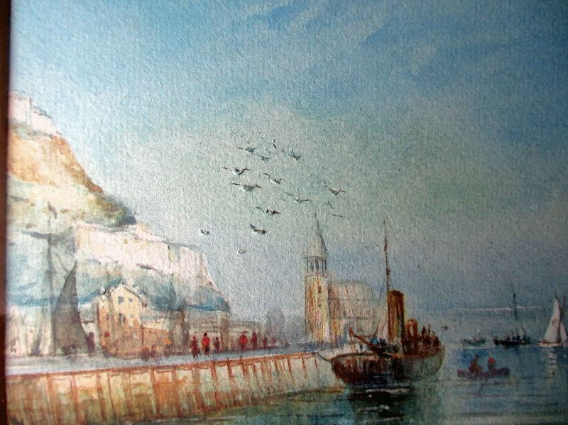 The Harbour, Scarborough, signed Austin Smith, 1923.