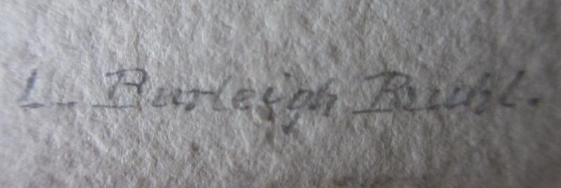 Westcliffe, Essex, signed L. Burleigh Bruhl, c1900. Signature.