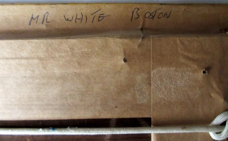 Westcliffe, Essex, signed L. Burleigh Bruhl, c1900. Verso.
