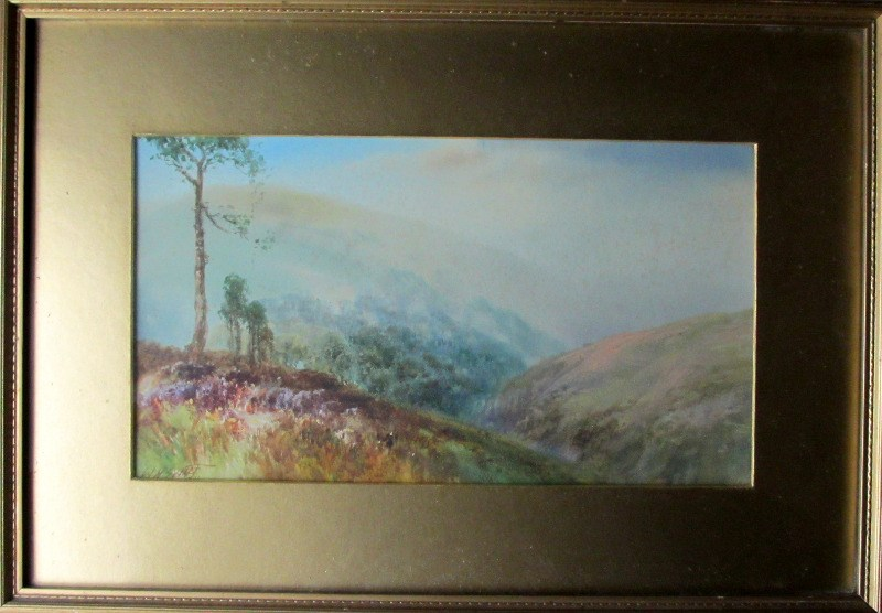 West Country Moorland Landscape, watercolour, signed W.H. Sweet, c1913.