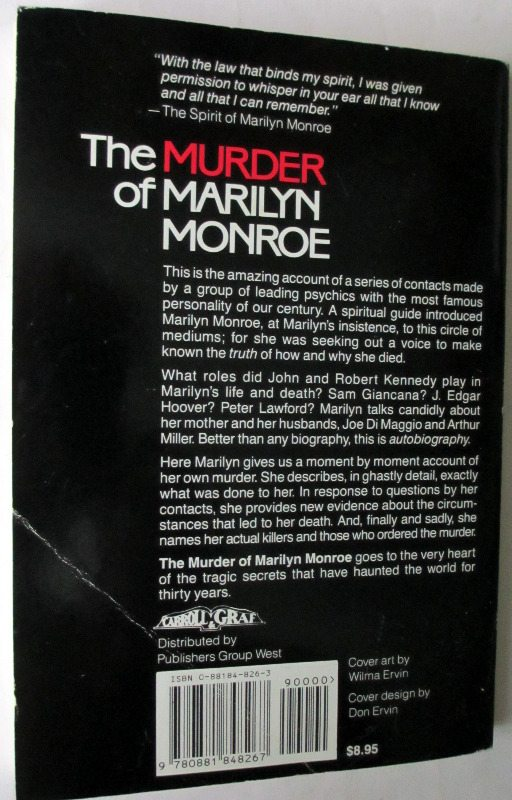 The Murder of Marilyn Monroe, back cover.