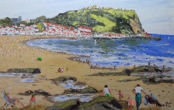 A Sunny Day in Scarborough, signed Alice Maw. 2013.  SOLD BY THE ARTIST.