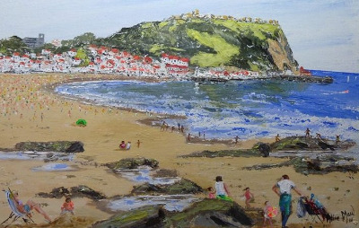 A Sunny Day in Scarborough, signed Alice Maw. 2013.