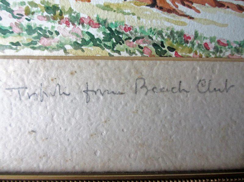 Tripoli watercolour. Pencil title in handscript.