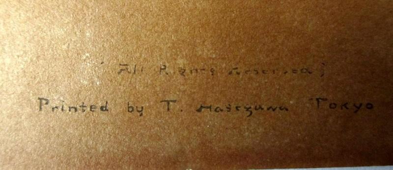 Futamigaura, verso with printing details.