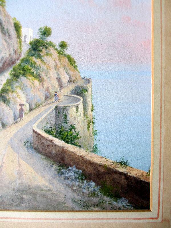 Italian Coastal Scene, riva.