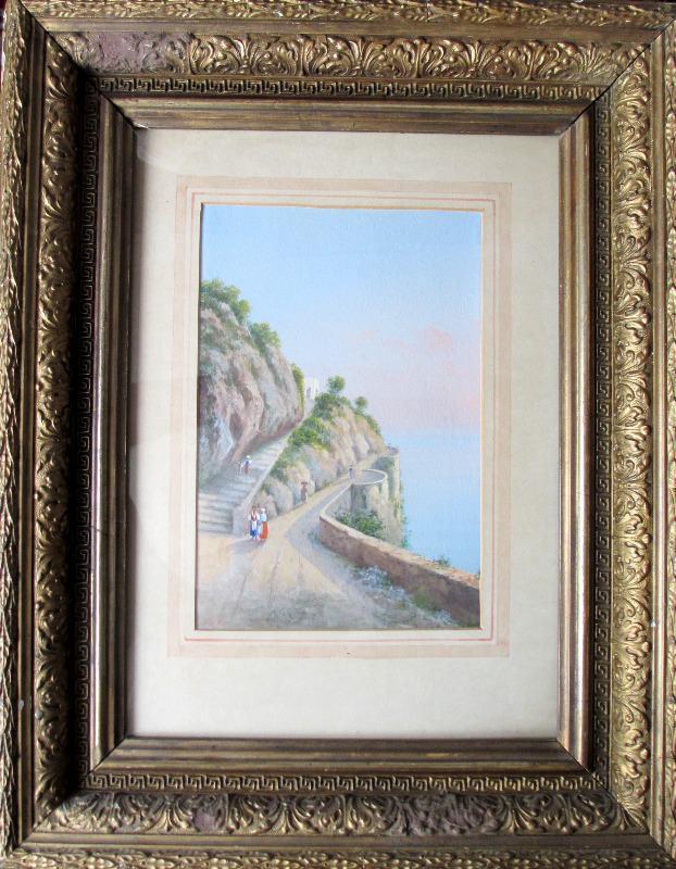 Italian Coastal Scene in frame.