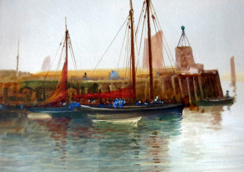 Brixham Harbour, J. Shapland.