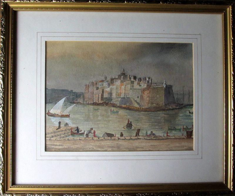 Scala Point Malta, watercolour, 1874.