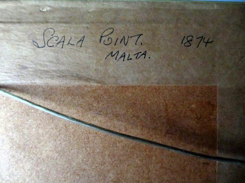 Scala point Malta. Frame, verso.