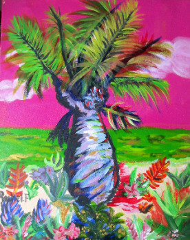 Tropicana, acrylic on canvas, signed Rachel. F, September 2006.