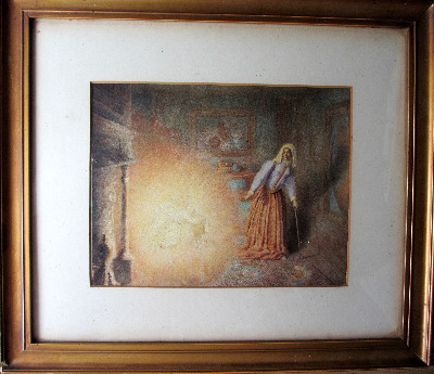 Marguerite's Vision, watercolour on paper, unsigned. 19th Century Continent