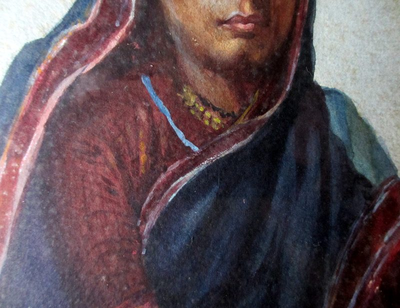 Indian Woman, 1918. Detail.