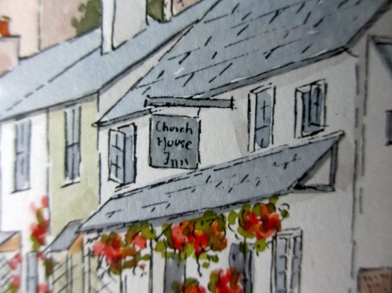Stoke Gabriel, signed Peter Hunt. Detail.