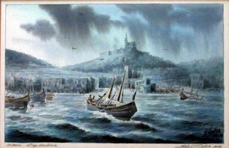 Mgarr Gozo Harbour signed Ed. Galea, 1978.