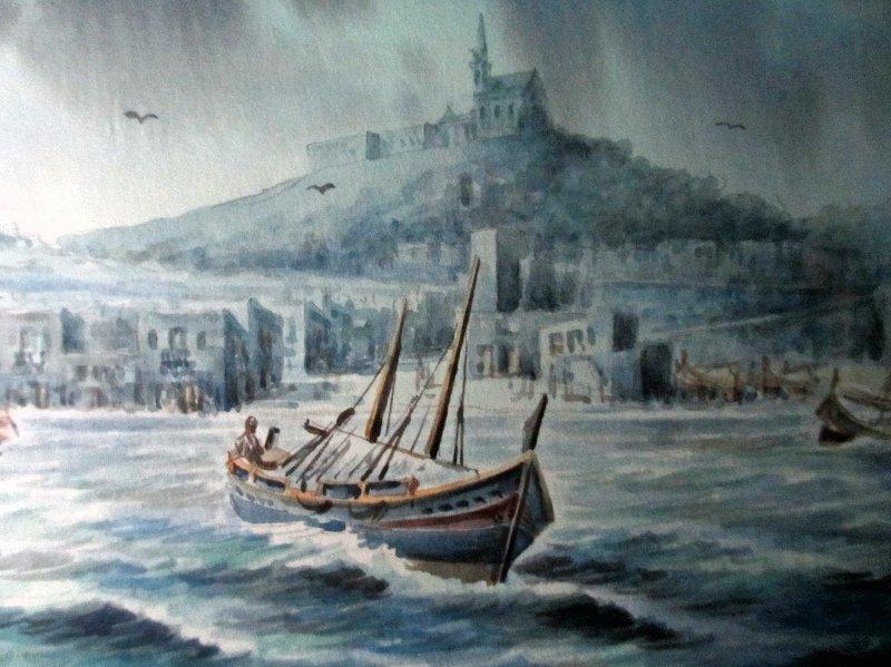 Mgarr, Gozo, signed Ed. Galea, 1978.