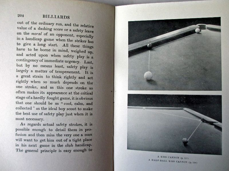 Billiards by Tom Reece, 1915. Sample page and plate.