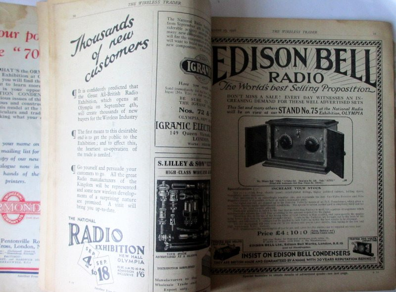 The Wireless Trader, 1926. Ads.