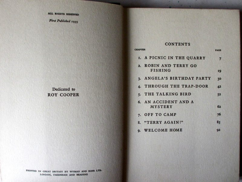 Contents page with copyright facing.