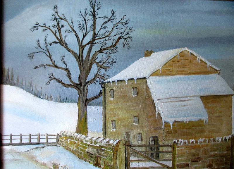 A Winter Landscape, signed WK.