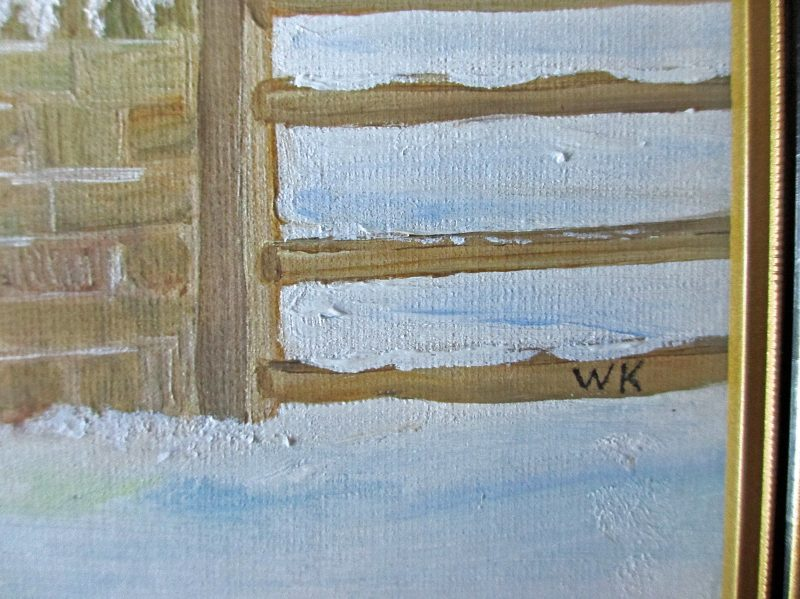 A Winter Landscape, signed WK. Signature.