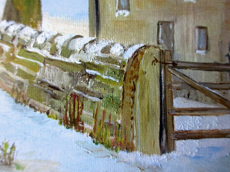A Winter Landscape, signed WK. Detail.