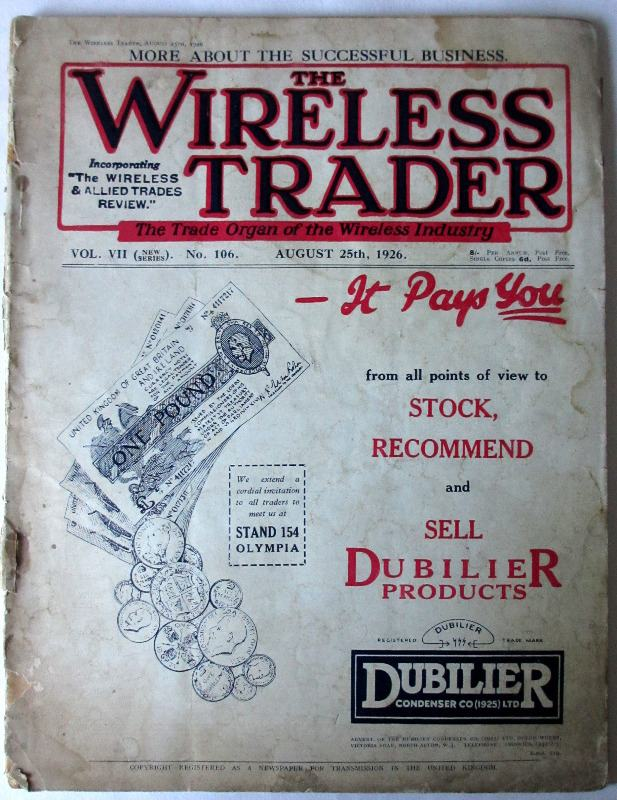 The Wireless Trader, 5th August, 1926.