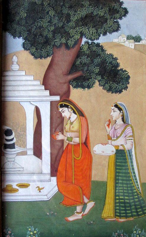 Shiv Puja, detail.