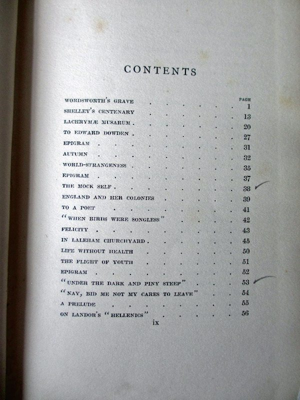 Contents page.