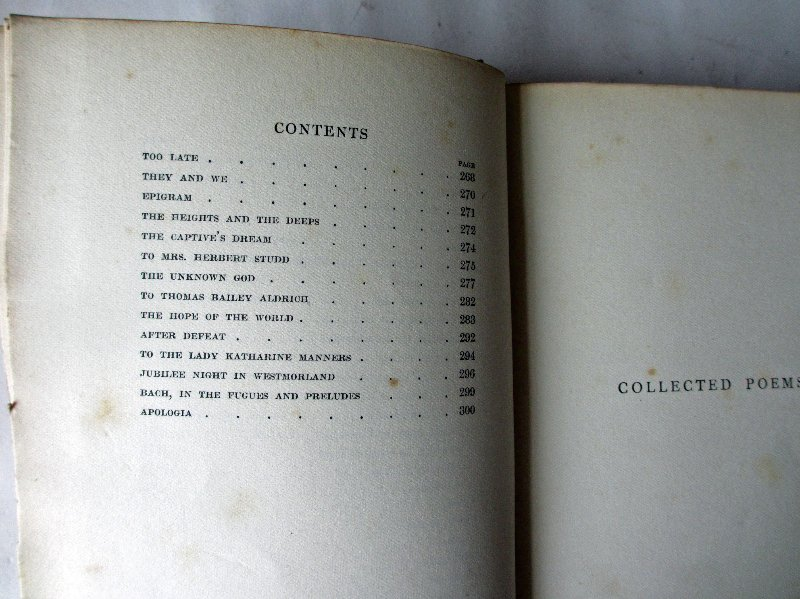 Contents pages.