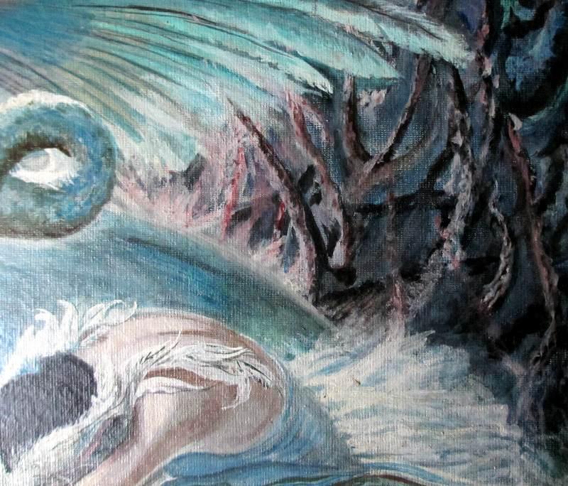 Swan Lake. Detail.