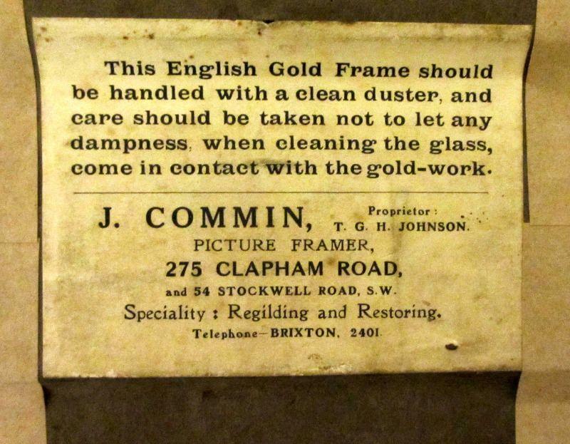 Framer's label verso.