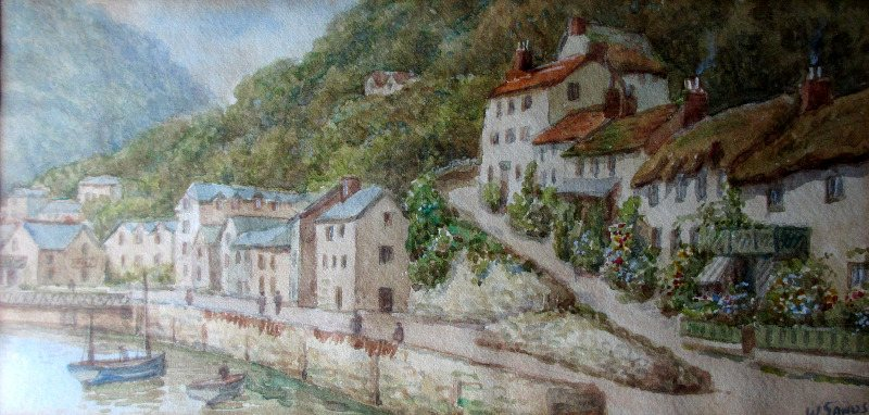 Lynmouth, signed W. Sands. c1930.