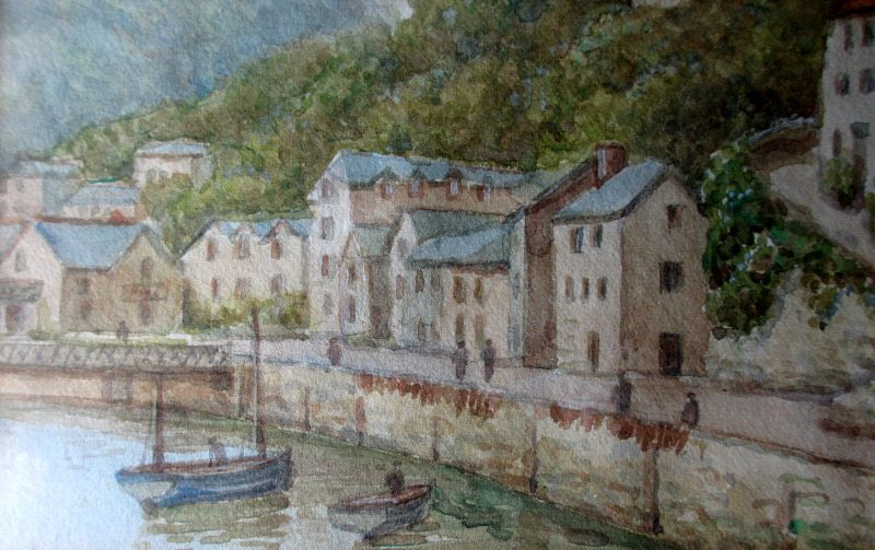 Lynmouth, signed W. Sands.